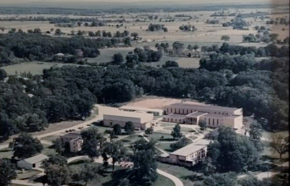 Aerial view of the OA Campus ca. 1990