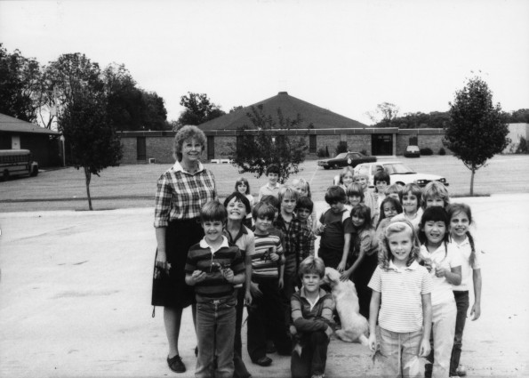 Cathy Lambert with her students
