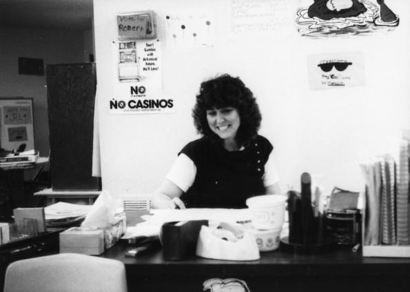 Cheryl Blackburn in her classroom