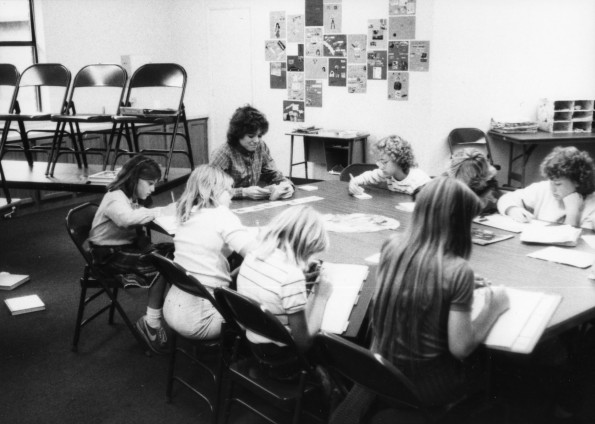 Kay Sutherland teaching a class