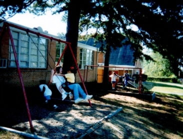 Recess time at the E. A. Spring school in 1983