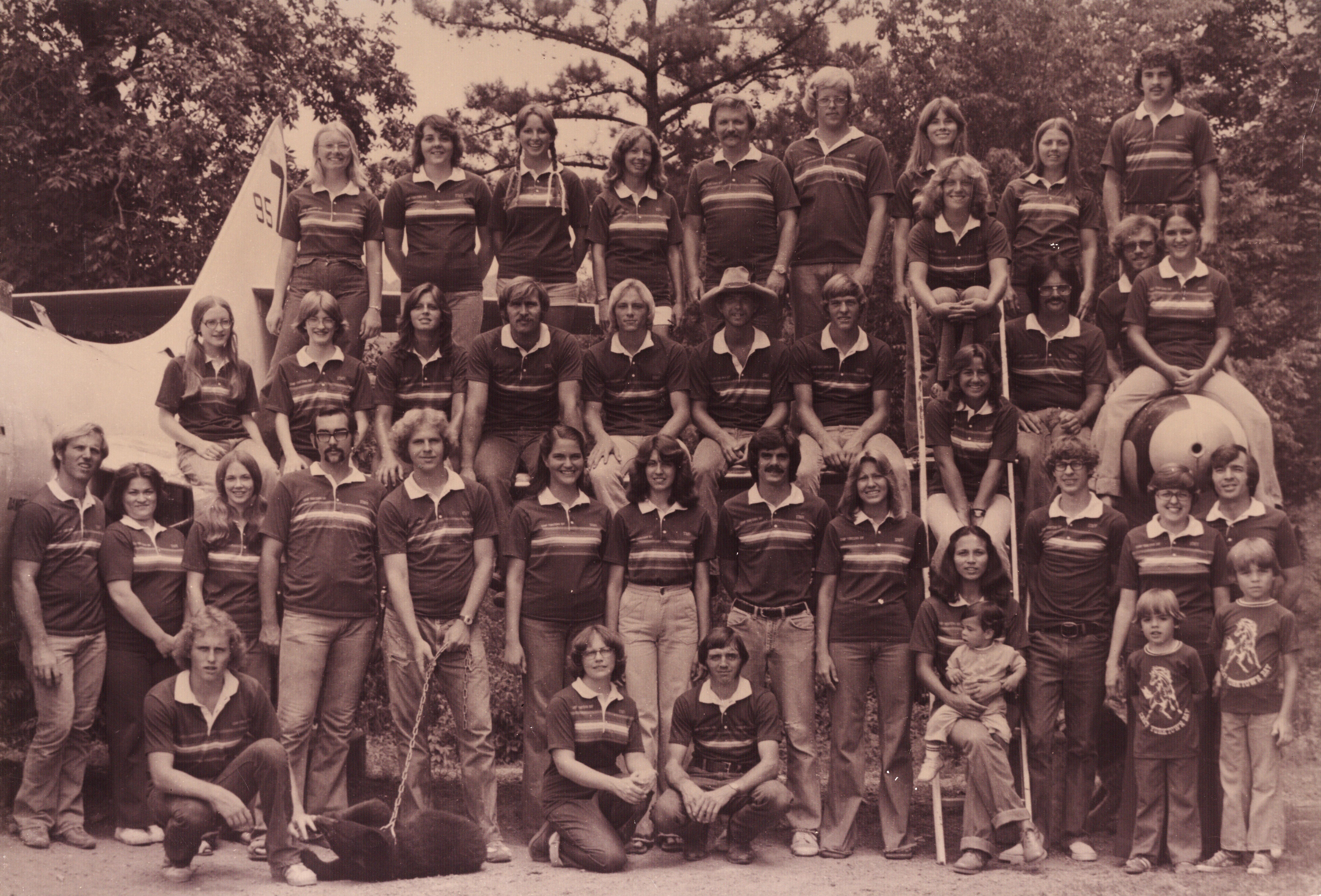 Camp Yorktown Bay staff 1977