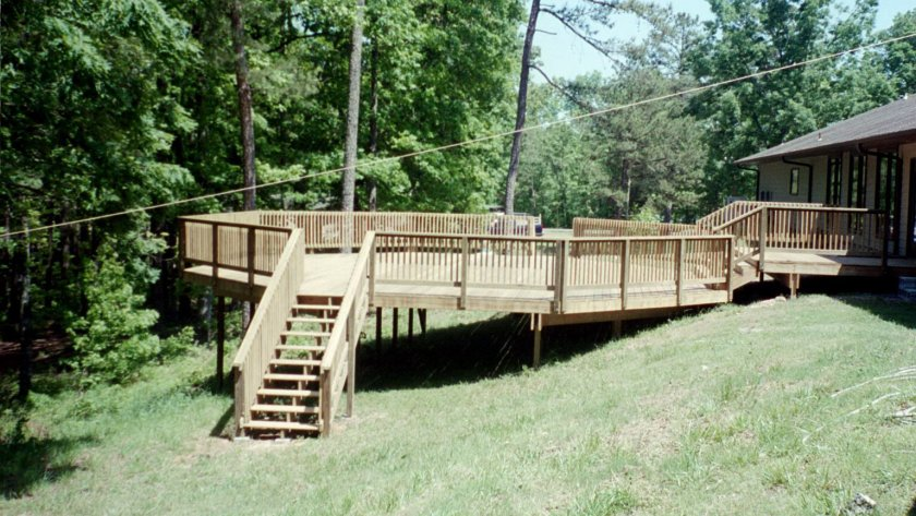 Completed deck project in 2005