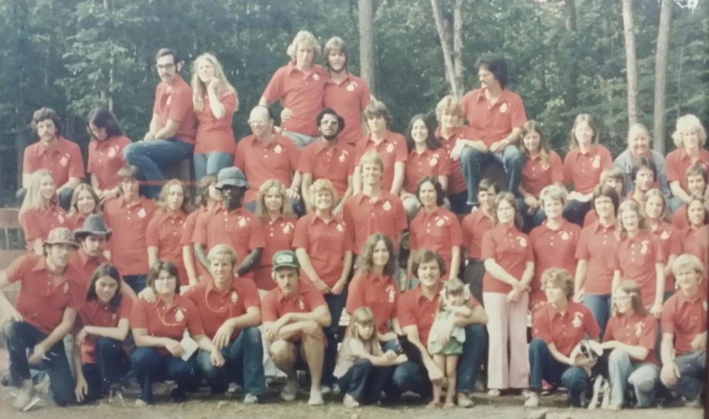 Camp Yorktown Bay staff 1975
